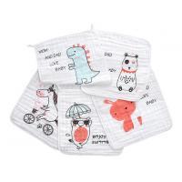 Buy cheap Square Face Organic Cotton Muslin Washing Cloth With Print In 6 Layers from wholesalers