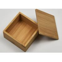 Buy cheap Small Natural Storage Bamboo Gift Box With Custom Logo For Packaging product