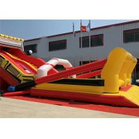 Buy cheap Truck Commercial Inflatable Slide Amusement Anti UV Full Tall Strong Toughness product