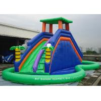 Buy cheap Double Inflatable Water Slide Among Pool PVC Tarpaulin Material Water Park Slide product