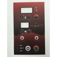 Buy cheap 4C offset printing embosing buttons LCD dispaly 3M adhesive graphic overlay product