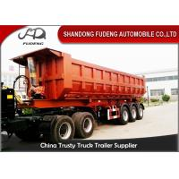 Buy cheap Three Axles Rear Dump Semi Trailers , Hydraulic Tipping Tractor Trailer product