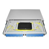 Buy cheap 19'' rack mounted OTB ODB 12 24 port SC connector pigtail Fiber Optic Patch Panel from wholesalers