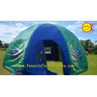 PVC Tarpaulin Double Layers Dome Inflatable Camping Tent CE , UV-Resistance