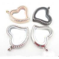 Buy cheap Heart Floating Charms Locket Pendant with Crystals 316L Stainless Steel product