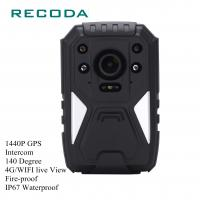 Buy cheap 1440P HD 4G Wifi Body Camera Real Time Video GPS Fireproof 10 Hours Battery Life from wholesalers