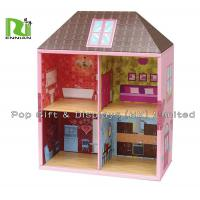 Buy cheap Two Layers Showing Corrugated Cardboard House Kids Play Hut Toy from wholesalers