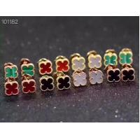 Buy cheap Channel Setting Designer Jewellery Collection Four Leaf Stud Earrings 9/15mm from wholesalers