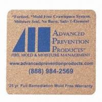 Buy cheap Plastic coaster, customized sizes, shapes and logos are accepted product