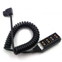 Buy cheap D-Tap Camera Connection Cable Ptap Powertap Male To 4* Female Spring Cable product