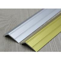 Sloped Aluminium Carpet To Laminate Cover Strip Anodized Silver / Gold Surface Treatment