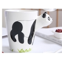 Buy cheap Hand Printed 15 Ounce 3D Ceramic Reusable Coffee Cup product