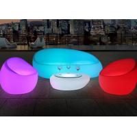 Buy cheap Illuminated Couch Living Room Modern Sofa Set With Led Light , IR Remote Control from wholesalers