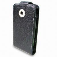 China Mobile Phone Case, Made of Leather Material, Various Designs Available on sale