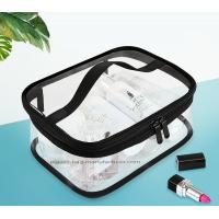 Buy cheap Double Pullers Portable Clear PVC Makeup Bag Zippered Waterproof Cosmetic Bag Transparent Travel Storage Carry On Pouch product