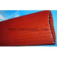 Buy cheap Samlongda Heavy duty PVC layflat water discharge hose for mining system, 6 inch, brown color,100m/roll product