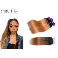 Buy cheap Soft 1B30 Blonde Malaysian Hair Bundles With Closure Long Lasting Wear product