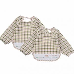 China Soft Absorbent Baby Bandana Bib , 100% Organic Cotton Baby Coverall Bib on sale