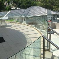 Buy cheap High Quality Outdoor Curved Aluminum Glass Balustrade / Glass Railing product