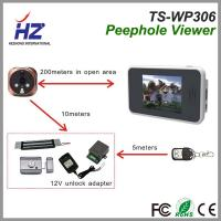 Buy cheap 3.5''touch screen 2.4GHz Automatically taking photos ir night vision wireless digital peephole door camera product