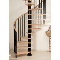 Buy cheap Villas design  wood stainless steel small spiral stairs product