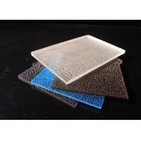 Buy cheap 3mm Embossed Solid Polycarbonate Sheet / Lichee Partition UV Polycarbonate Panels product