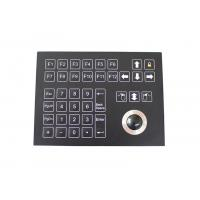 Buy cheap 38 Keys Panel Mount Industrial Membrane Keypad With 25mm Mechanical Trackball from wholesalers