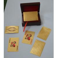 Buy quality Normal Style 0.3mm 24K Gold Playing Cards With Both sides gold foil at wholesale prices