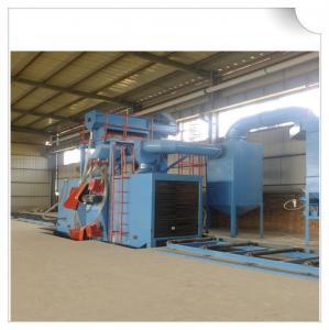 China Steel structure H beam shot blasting machine / Roller Conveyor Sand Blasting Machine on sale
