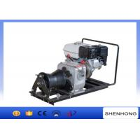 Buy cheap 10KN Belt Driven Steel Cable Powered Pulling Winch With HONDA Gasoline Engine product