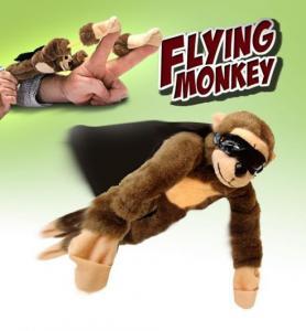 Sling shot flying monkey
