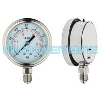 Buy cheap 63mm Stainless Steel Welding Pressure Gauge Bayonet Bezel With Dual Scale product