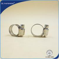 Buy cheap 6~248 High Pressure Hose Clamps / Worm Drive Hose Clamps Stainless Steel product
