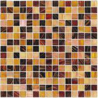 20X20mm gold line glass mosaic mix pattern square mosaic tile