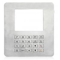 Buy quality Rugged IP65 Panel Mount Keypad With Display Window , Stainless Steel Numeric Keypad at wholesale prices