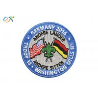 Buy cheap American Germany Embroidered Military Patches Polyester Material With Letter Logo product