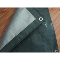 Buy quality Outdoor canvas curtain fabric,PE tarpaulin sheet, poultry barton roof door poly tarps at wholesale prices