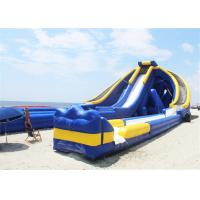 Buy cheap 3 Lanes Inflatable Giant Slide , Pool Blow Up Water Slide Massive For Beach Shore product