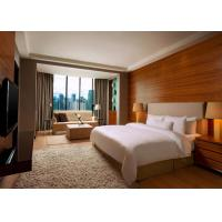 Buy cheap 5 Star Hotel Bedroom Furniture King Size Wooden Material OEM Service product