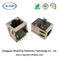 Buy cheap Tab Up Industrial RJ45 Connector , RJ45 Ethernet Socket Small Body 1 Port product