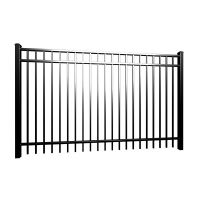 Buy cheap Ornamental Galvanized Tubular Flat Top Steel Picket Fence product