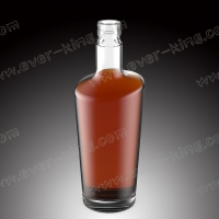 China OEM 1500G Luxury Decaling Whiskey Glass Bottle for sale