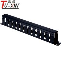 Buy cheap Black 19 Inch Rack Accessories 1U / 12 Port Rack Mount Metal Cable Management product