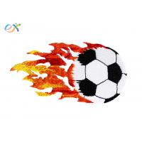 Buy cheap Polyester Material Embroidered Soccer Patches Customized Size For Clothing product