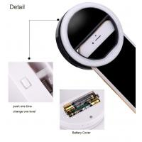 Buy cheap Three Brightness Level Phone Selfie Light Battery Operated Fill Light product