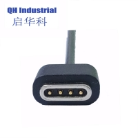 Buy cheap 2A 3A Male Female 4Pin Magnetic Cable Connector with USB product