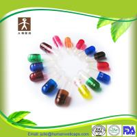 China customized printed gelatin capsule size 0 with halal and FDA certifications on sale