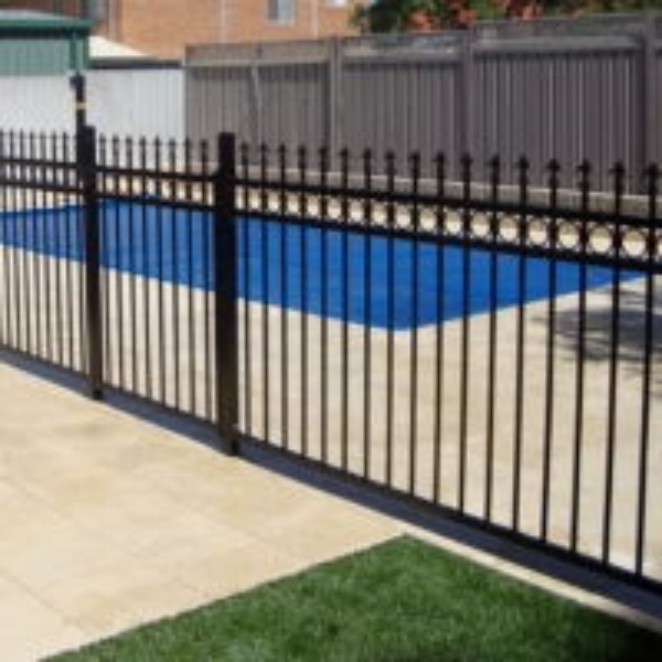 Top Lattice Garden Steel Fences Powder Coated Garrison Fence