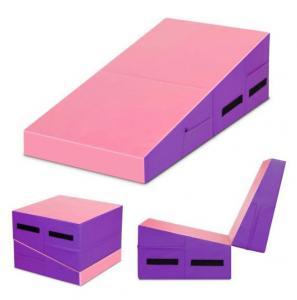 China Pvc Cover Preschoolers 23.5X23.5X18 Folding Gymnastics  Exercise Wedge Mats on sale