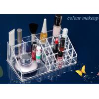 Buy cheap Cosmetics Nail Polish Acrylic Display Stand Transparent 16 Compartments product